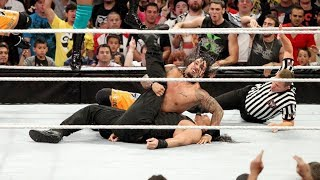 Roman pinned for the first time in WWE!  11-on-3 Handicap Match: Raw, Sept. 23, 2013