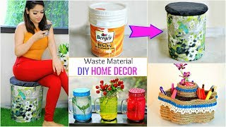 बिना खर्च बनायें DIY Home Decor | Recycle Waste Material | #Crafts #Anaysa #DIYQueen