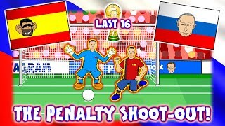 🏆SPAIN OUT! The Penalty Shoot-Out!🏆 (Spain vs Russia World Cup 2018 Goals Highlights Parody)