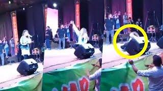 Video Detik-detik Via Vallen Pingsan di Atas Panggung saat Berselfie dengan Penonton