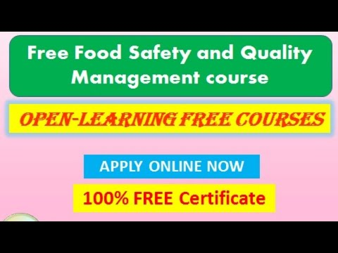 Free Food Safety and Quality Management course! Free Certificate ...