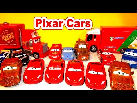 Disney Pixar Cars Michael Schumacher Ferrari F430 And Fred From The Cars Character Encyclopedia With