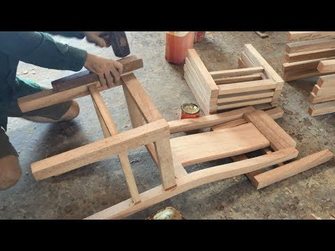 Woodworking Skills Extremely Smart Of Carpenter - Building Dining Chair Fastest And Most Beautiful