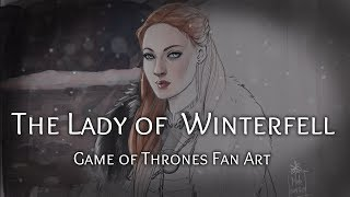 Game of Thrones fan art – The Lady of Winterfell