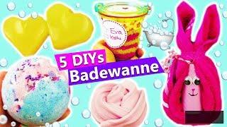 5 DIY Ideen für die BADEWANNE | Geschenke selber machen Badebombe, Dusch Schleim, Handtuch falten