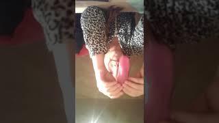 Игра с моим новым,розовым и красивым лизуном