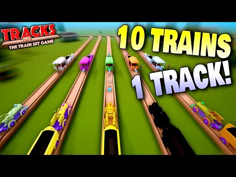 Too Many Trains On A Single Track! - Tracks - The Train Set Game Ep 11