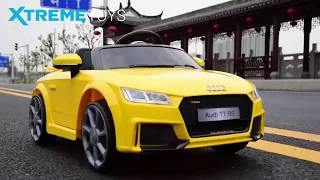 Kids Audi TT RS 12V Electric Ride on Car Test Drive from Xtreme-Toys.co.uk
