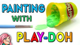 Painting with PLAY-DOH