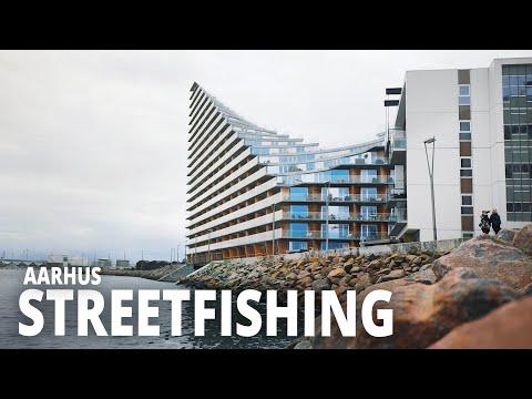 Jigfiskeri efter torsk på Århus Havn