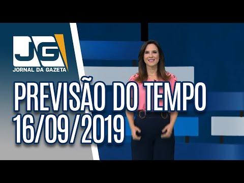Previsão do Tempo – 16/09/2019