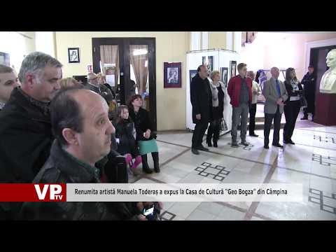 """Renumita artistă Manuela Toderaș a expus la Casa de Cultură """"Geo Bogza"""" din Câmpina"""
