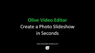 Tutorial [3/3] - Olive Video Editor - Create a Photo Slideshow in Seconds