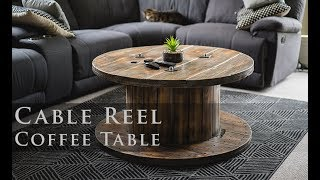 Cable Reel Coffee Table (Distressed Finish)