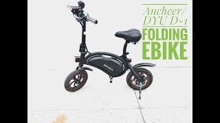 DYU-D1 350w folding eBike Review