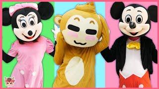 동물 머리를 맞혀봐요! 인형 장난감 놀이 Animals wrong head and Children Dance   Kids Video for Toddlers Songs