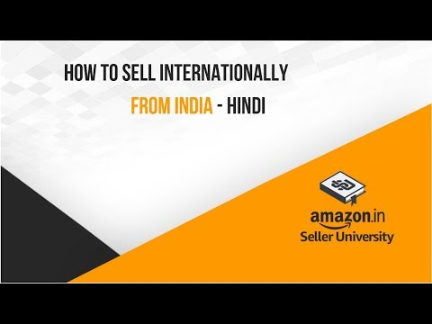 How to sell internationally from India with Amazon Global Selling Program (Hindi)!