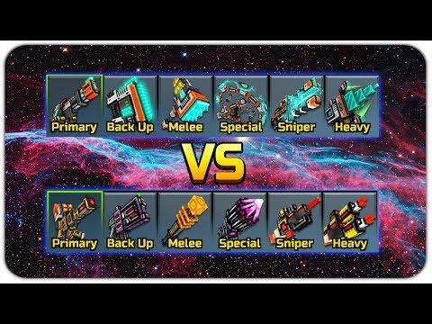 Industrial Weapons VS Cyber Weapons - Pixel Gun 3D