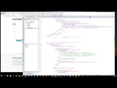 HTML 수정 및 그래프수정 사용법 1