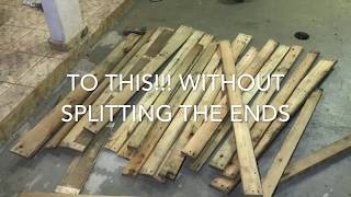 Pallet Disassembly...DON'T USE A HAMMER!!!