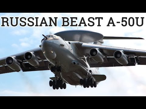 FLYING RADAR: Russia's Beriev A-50U (Mainstay) In Action!