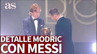 Balón de Oro |Las bonitas palabras de Modric a Messi al darle el Balón de Oro |Diario AS