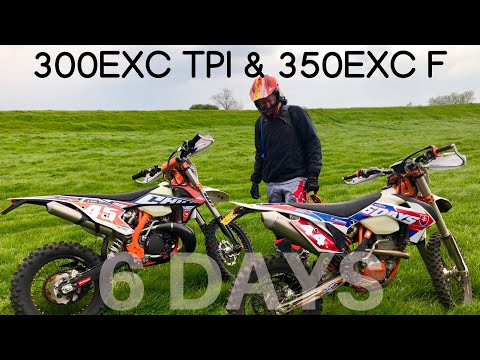 2019 KTM 300 EXC TPI & 2016 KTM 350 EXC F, Riding with my mate Phil who had a slight mishap!