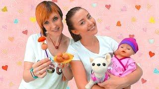 Видео для детей. NEW Веселая Школа. Маша Капуки Кануки, собачка Чичилав, Эмили и Катя идут на пикник