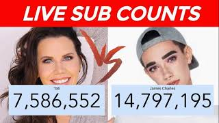 live subscriber count james charles and tati - TH-Clip