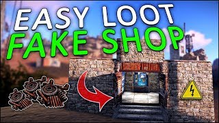 LURING PLAYERS into an ELECTRIC SCAM SHOP! - Rust Trap Base