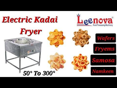 Leenova Electric SS Frying Kadai