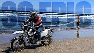 MOTORCYCLE WAKE-BOARDING?!