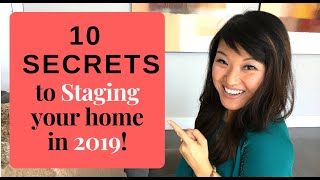 Staging: Top 10 Tips And Secrets For 2019 [HGTV Designer]