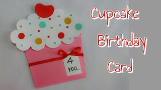 DIY Cupcake Card/ Cupcake Birthday Card For Kids/Simple And Easy Cupcake Card Making For Kids