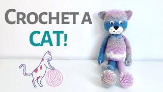 HOW TO CROCHET A CAT!   Free Crochet Pattern   Amigurumi Cat