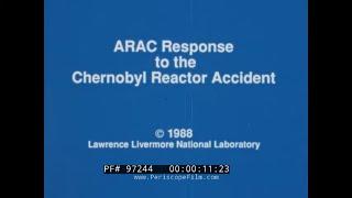 USA ATMOSPHERIC RELEASE ADVISORY CAPABILITY   MODEL OF CHERNOBYL RADIOACTIVE CLOUD SPREAD   97244