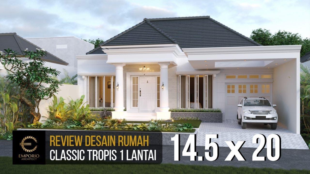 Video 3D Desain Rumah Classic 1 Lantai Ibu Lellyta