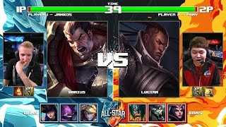 Jankos Darius vs PraY Lucian | Round of 32 1v1 Tournament All-Stars 2016 | China vs Korea