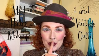 Mad Hatter Makeup And Vintage Outfit