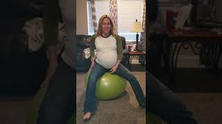 My wife's pregnant bouncing ball skills