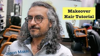Amazing Hair Transformation   Makeover Scissors Haircut   Long Hairstyle For Men 2018 #22