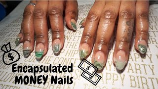 How To: Encapsulated Money Nails with REAL Money | Acrylic Nail Tutorial for Beginners