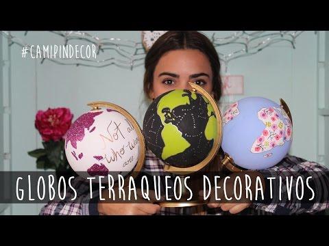 Globos Terraqueos Decorativos - Cami Pin