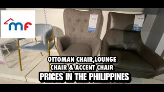 LOUNGE CHAIR,ACCENT CHAIR & OTTOMAN PRICES - AUGUST 2020 | MANDAUE FOAM