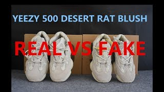 Real VS Fake Yeezy 500 Blush Deep Comparison from SUPLOOK
