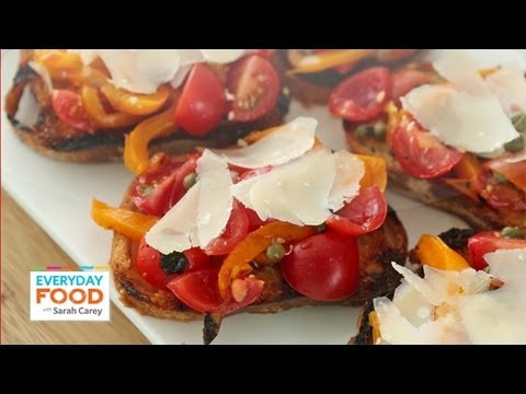 Grilled Pepper Bruschetta – Everyday Food with Sarah Carey