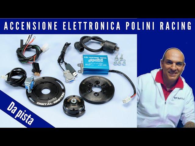 Accensione elettronica Polini Racing da pista senza funzione fanali per scooter con motore Yamaha e Minarelli con raffreddamento a liquido, ricambio 1710547