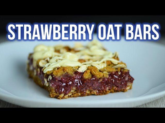 Healthy Strawberry Oatmeal Bars