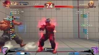 Naruo (Evil Ryu) Vs Bullcat (Gouken) - AE 2012 Match *720p*