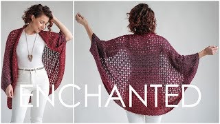 Enchanted Cardigan - Easy Knit Sweater Pattern For Beginners. MAGICAL!!